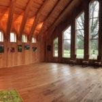 Panoramavy av möteslokal på ecotopia